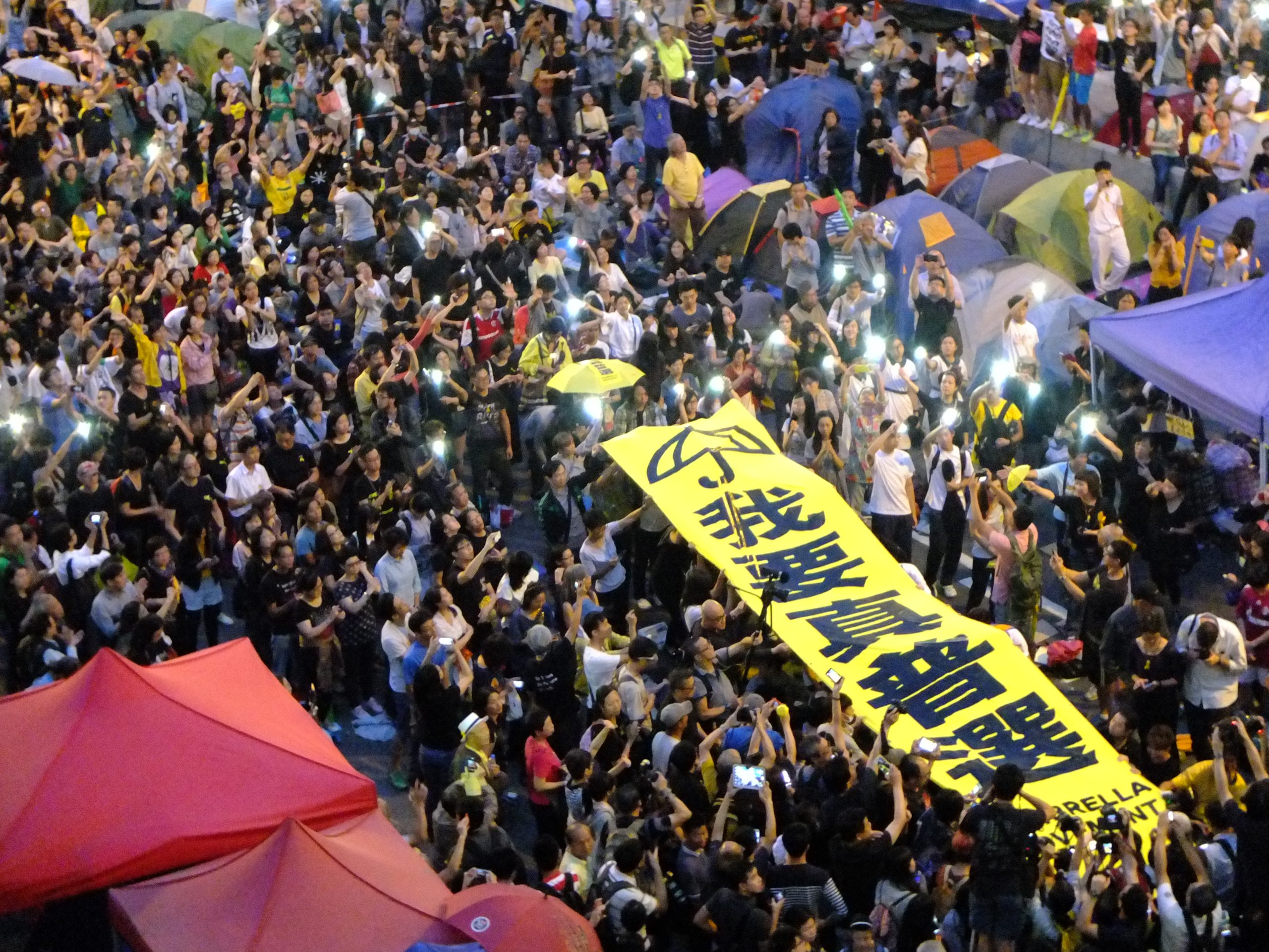 """Hong Kongers Demonstrate for """"Real Universal Suffrage"""" (Wikimedia Commons)"""