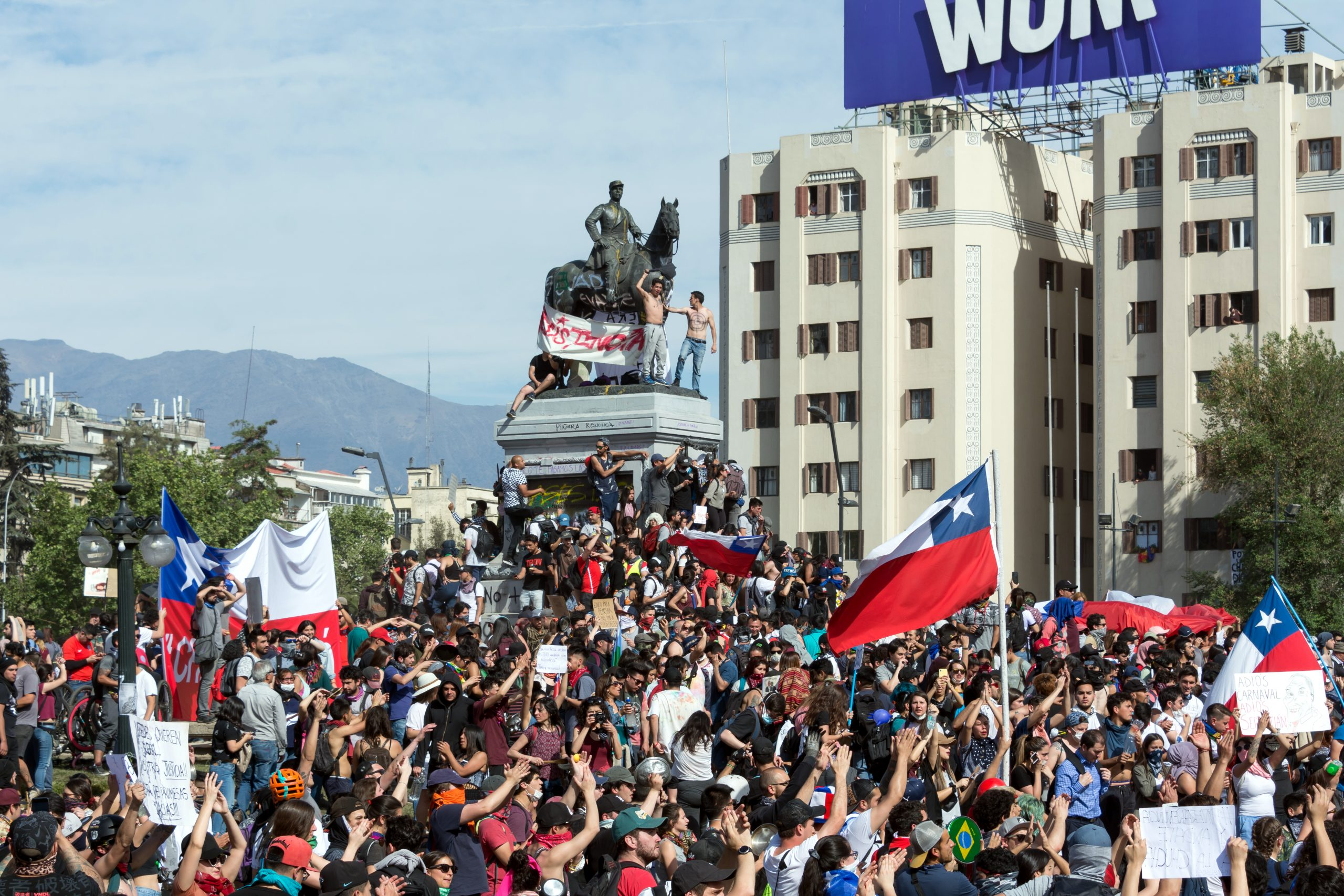 Protests in Chile, 2019 (Wikimedia Commons)
