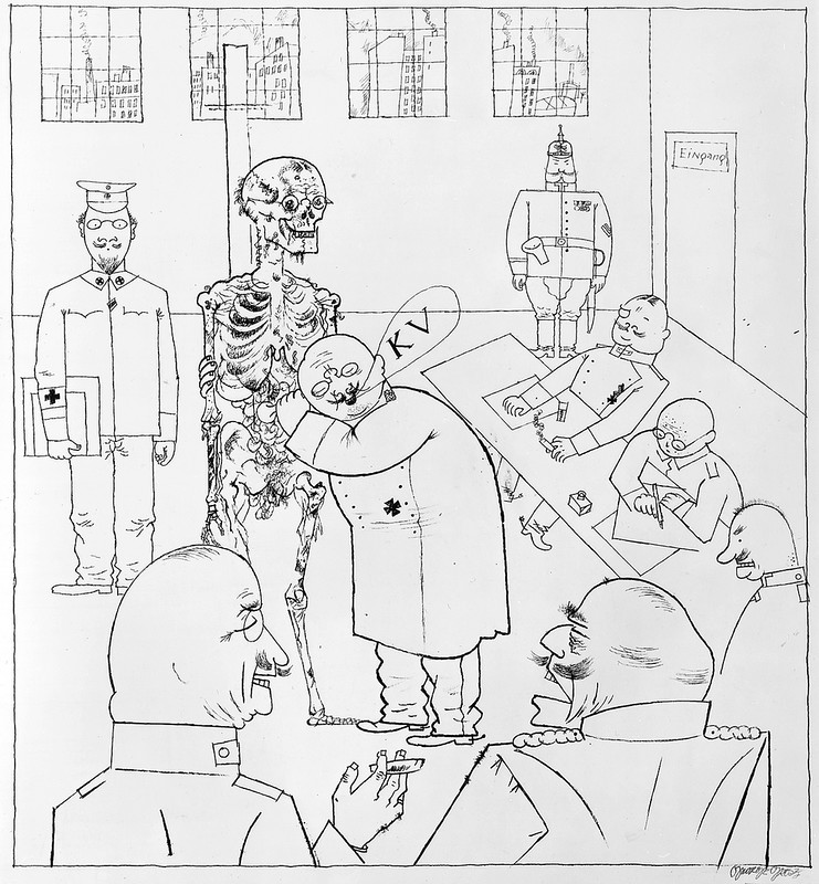 """Fit for Active Service"" by George Grosz, 1917 (Austin Kleon / flickr)"